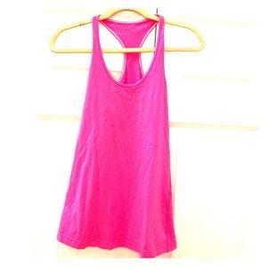 LULULEMON women's pink workout top Razorback shirt